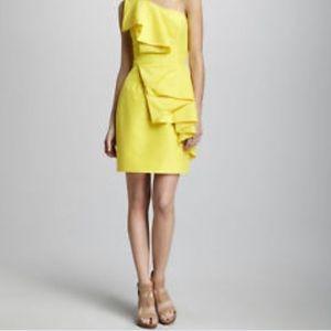 Shoshanna Sadie dress citron